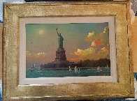 Liberty Island Embellished  Limited Edition Print by Alexander Chen - 1