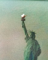 Liberty Island Embellished  Limited Edition Print by Alexander Chen - 2