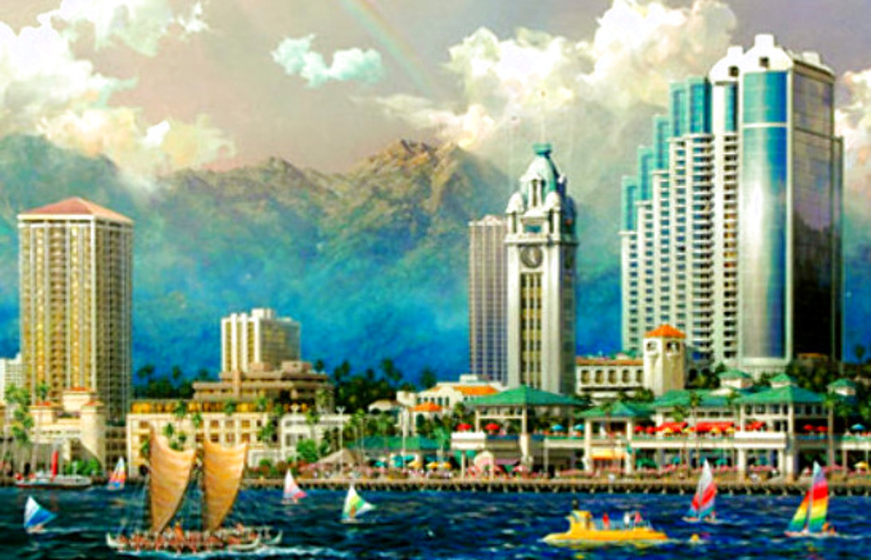 Aloha Tower 2005 Limited Edition Print by Alexander Chen