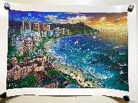 Hawaiian Sunset 2002 Waikiki Limited Edition Print by Alexander Chen - 1