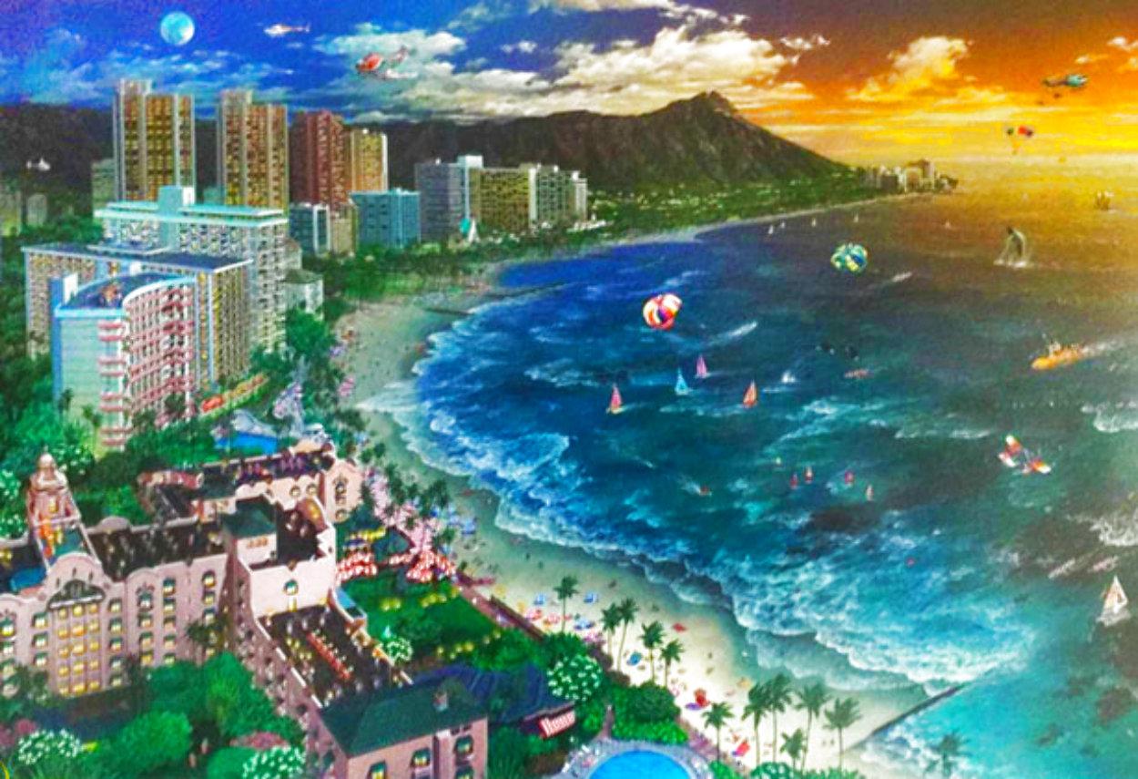 Hawaiian Sunset 2002 Waikiki Limited Edition Print by Alexander Chen
