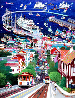 Hyde Street Pier 1992 - San Francisco Limited Edition Print - Alexander Chen