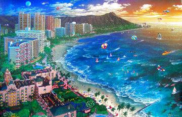Hawaiian Sunset 2002 - Waikiki Hawaii Limited Edition Print - Alexander Chen
