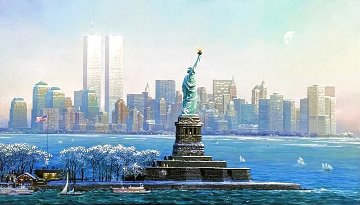 I Love New York Twin Towers Limited Edition Print - Alexander Chen