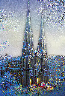 St Patrick's Cathedral Winter Limited Edition Print - Alexander Chen