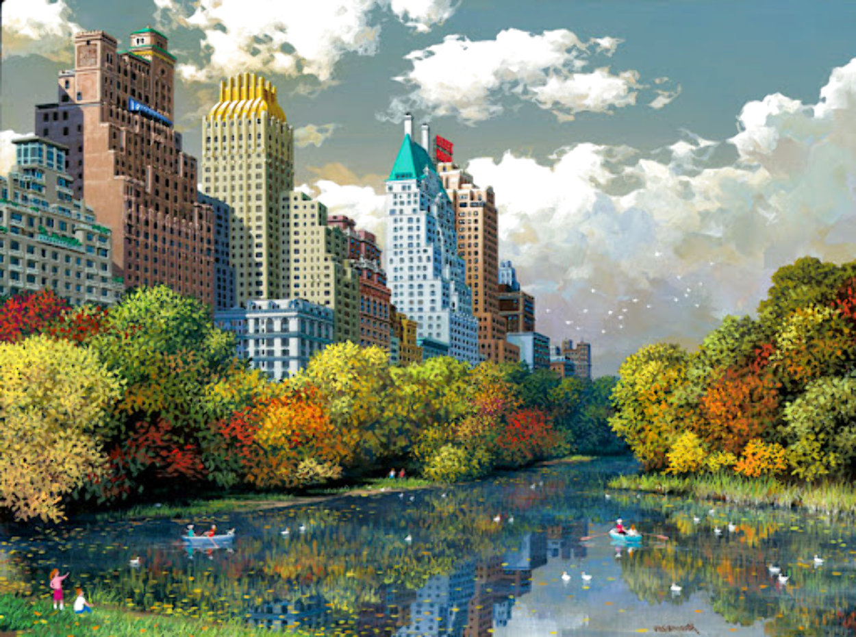 Central Park Fall Limited Edition Print by Alexander Chen
