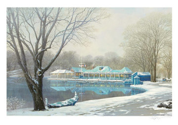Central Park Boathouse Winter (New York) 2004 Limited Edition Print - Alexander Chen