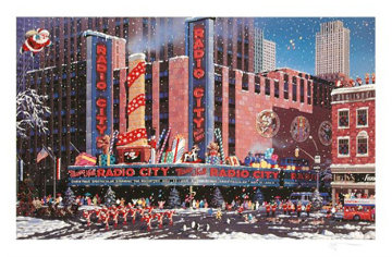 Santa Comes To New York Limited Edition Print by Alexander Chen