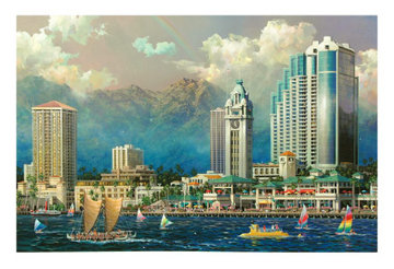 Aloha Tower (Hawaii) 2005 Limited Edition Print by Alexander Chen