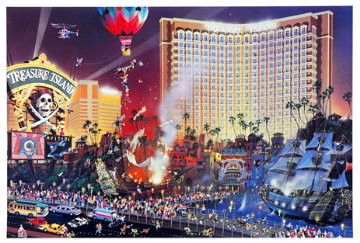 Blvd of Dreams and The Great Escape (Las Vegas) AP Limited Edition Print by Alexander Chen