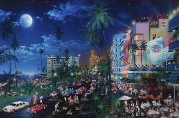Miami South Beach, Florida AP 1996 Limited Edition Print by Alexander Chen