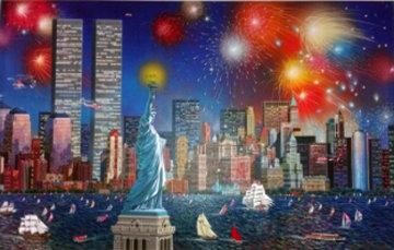 Manhattan Celebration, New York 2006 Embellished Limited Edition Print - Alexander Chen