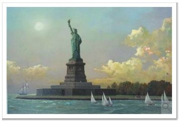 Liberty Island  Statue of Liberty Embellished 2013 Limited Edition Print by Alexander Chen
