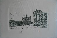 Notre Dame Winter Remarque 2008 Limited Edition Print by Alexander Chen - 1