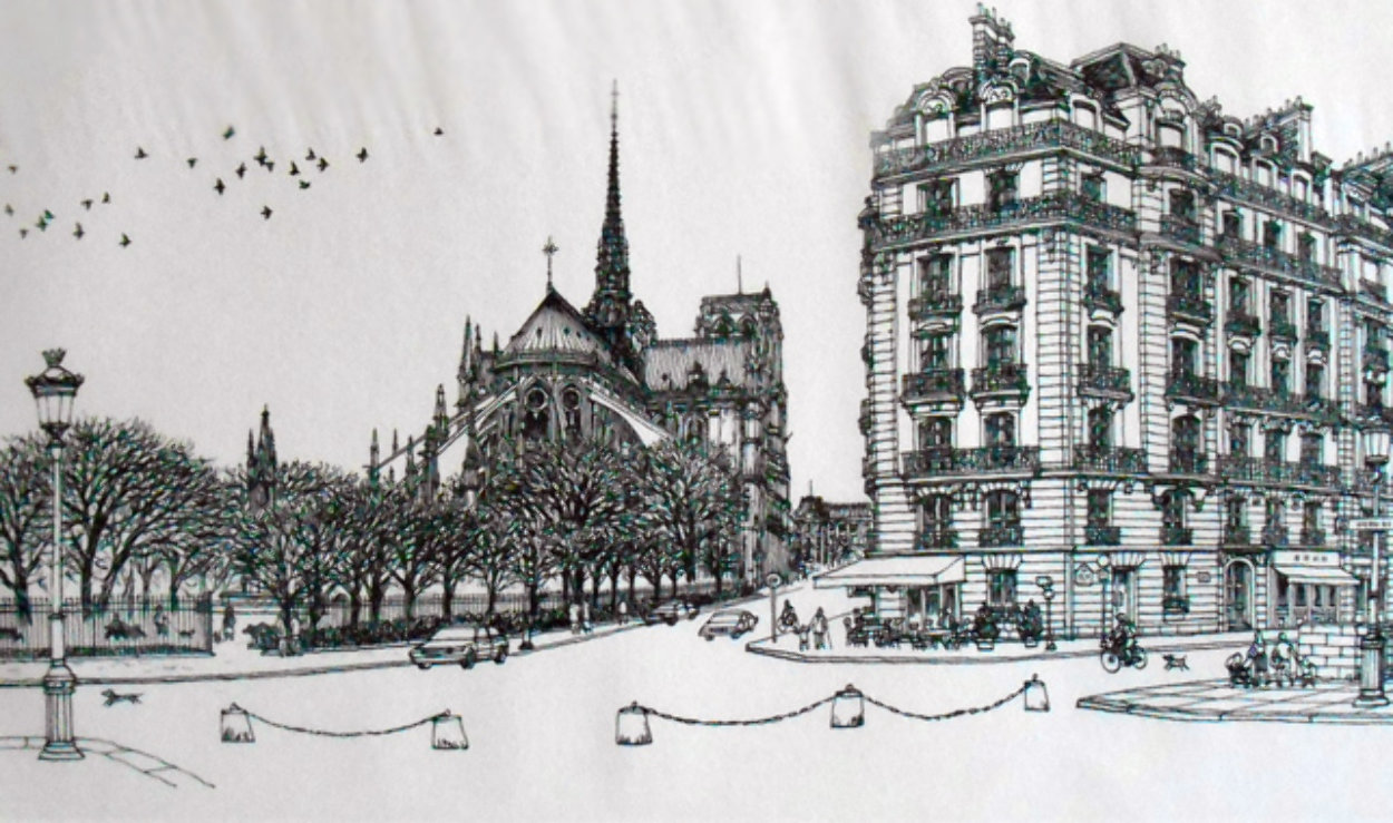 Notre Dame Winter Remarque 2008 Limited Edition Print by Alexander Chen