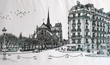 Notre Dame Winter Remarque 2008 Limited Edition Print - Alexander Chen