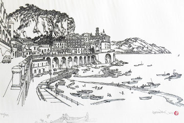 Amalfi Italy  w remarque 2008 Limited Edition Print by Alexander Chen