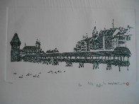 Chapel Bridge Lucerne w remarque 2008 Limited Edition Print by Alexander Chen - 1