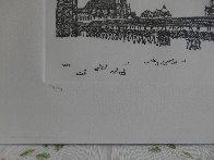 Chapel Bridge Lucerne w remarque 2008 Limited Edition Print by Alexander Chen - 4