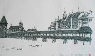 Chapel Bridge Lucerne w remarque 2008 Limited Edition Print by Alexander Chen - 0