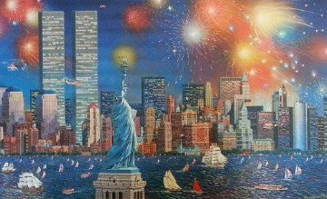 Manhattan Celebration 3-D 2006 Limited Edition Print - Alexander Chen