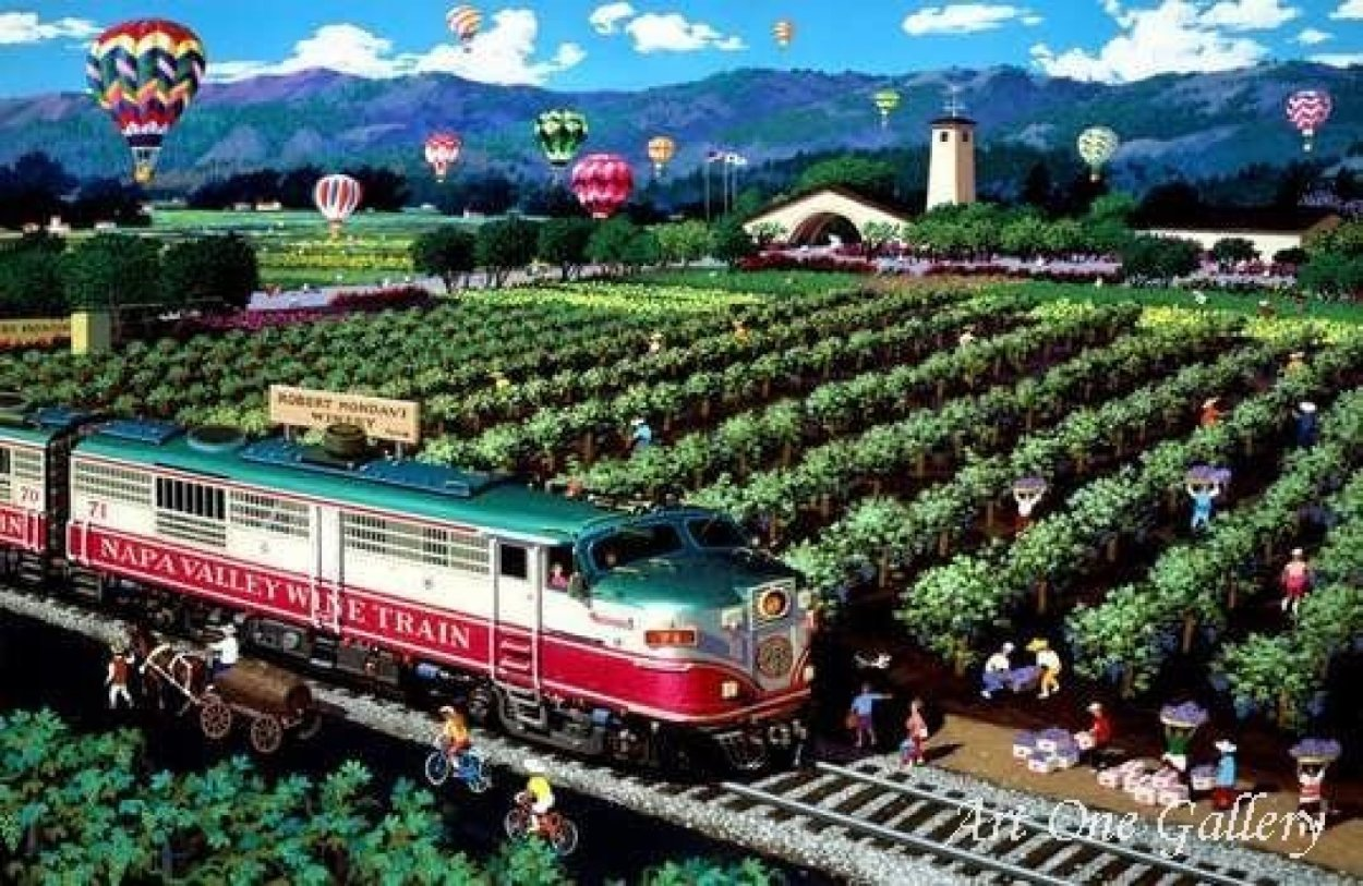 California Wine Country (Napa) 2009 Limited Edition Print by Alexander Chen