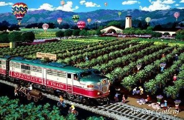 California Wine Country (Napa) 2009 Limited Edition Print - Alexander Chen