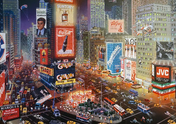An Evening in Time Square Embellished 2013 Limited Edition Print by Alexander Chen