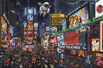Time Square Panorama Limited Edition Print by Alexander Chen