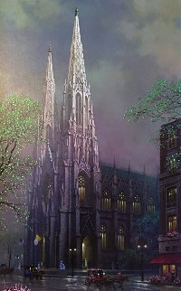 St. Patrick's Spring, New York  2005 Embellished Limited Edition Print by Alexander Chen