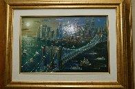 Brooklyn Bridge Embellished New York 2002 Limited Edition Print by Alexander Chen - 2