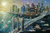 Brooklyn Bridge Embellished New York 2002 Limited Edition Print by Alexander Chen - 1