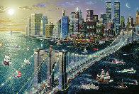 Brooklyn Bridge Embellished New York 2002 Limited Edition Print by Alexander Chen - 0