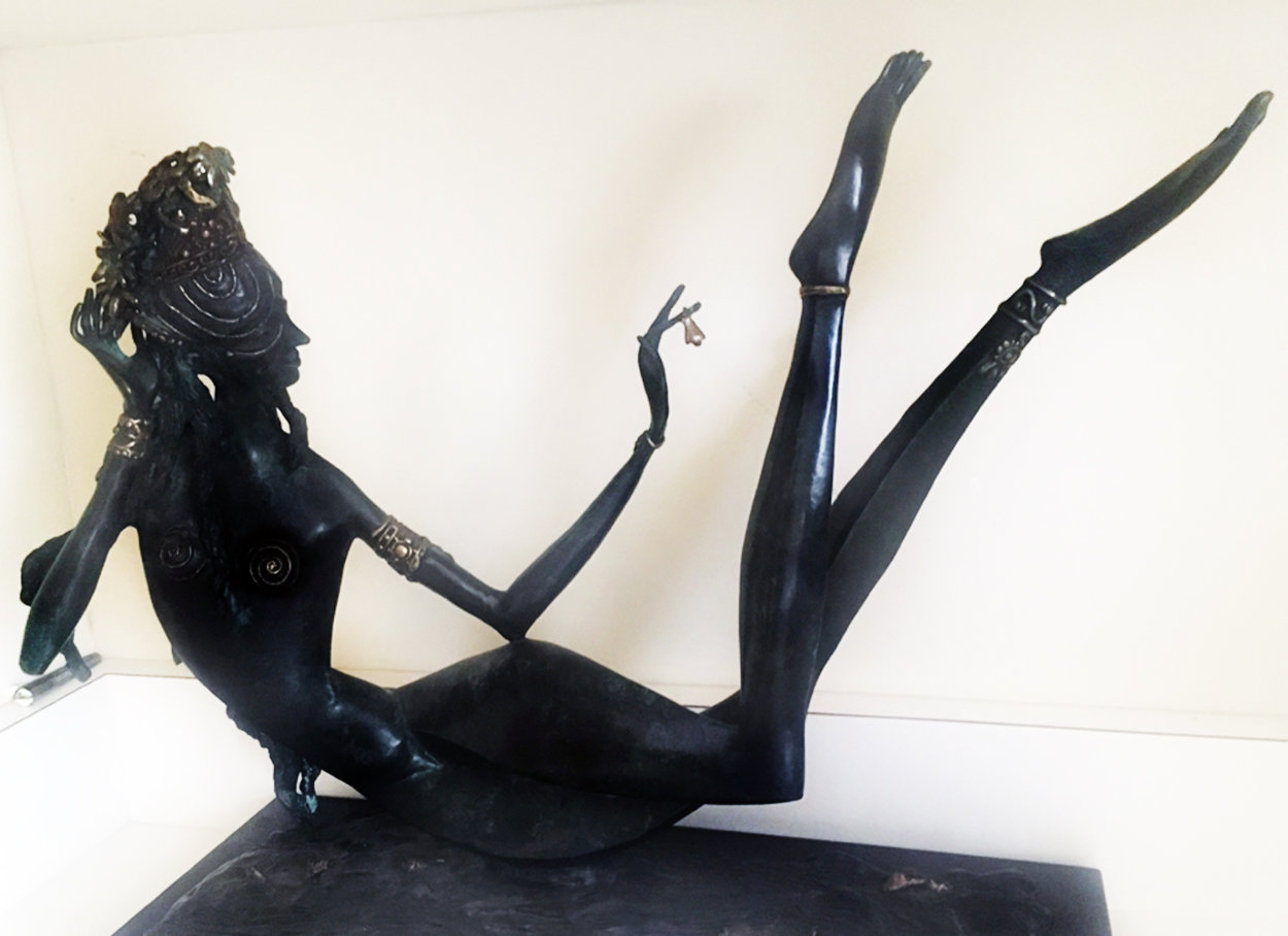 Night in the Orient Bronze Sculpture  1988 19 in Sculpture by Ji Cheng