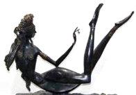 Night in the Orient Bronze Sculpture  1988 19 in Sculpture by Ji Cheng - 2