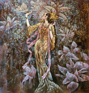 Smokey Wind and Flowery Path 2009 50x49 Works on Paper (not prints) by Li Chengzhong