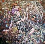 Peacock Spirit 2004 52x52 Works on Paper (not prints) - Li Chengzhong
