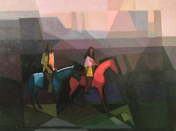 Monument Valley 30x40 Original Painting - Constantine Cherkas