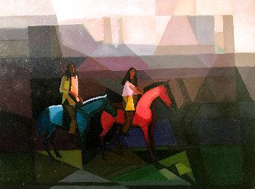 Monument Valley 30x40 Super Huge Original Painting - Constantine Cherkas