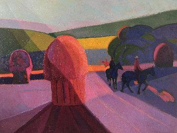 Three Caballeros 30x40 Original Painting - Constantine Cherkas