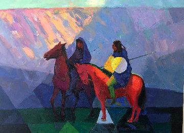 Return to Sedona 30x40  Arizona  Original Painting by Constantine Cherkas