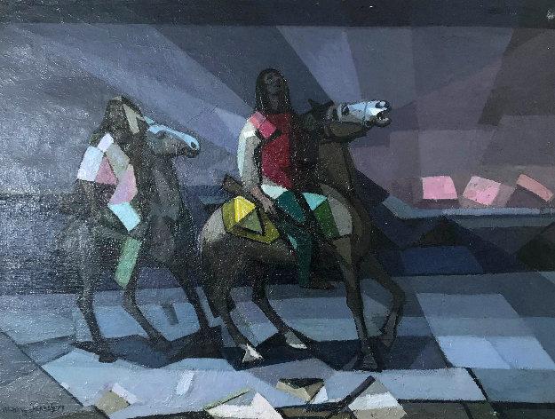 Praying to the Spirit 1977 30x40 Original Painting by Constantine Cherkas