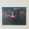 Taos Indian, Two Horses And a Church 30x40 Original Painting by Constantine Cherkas - 2