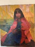 Indian Girl 24x20 Original Painting by Constantine Cherkas - 1