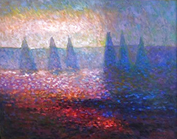 Marbella Morning 2004 33x40 Original Painting - Constantine Cherkas