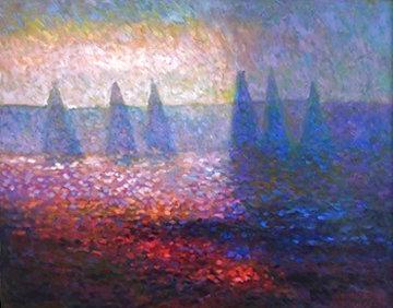 Marbella Morning 2004 33x40 Huge Original Painting - Constantine Cherkas