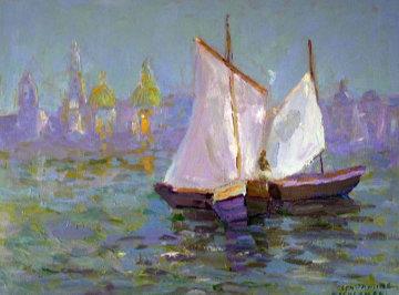 Monterey Bay II 2003 18x24 Original Painting by Constantine Cherkas