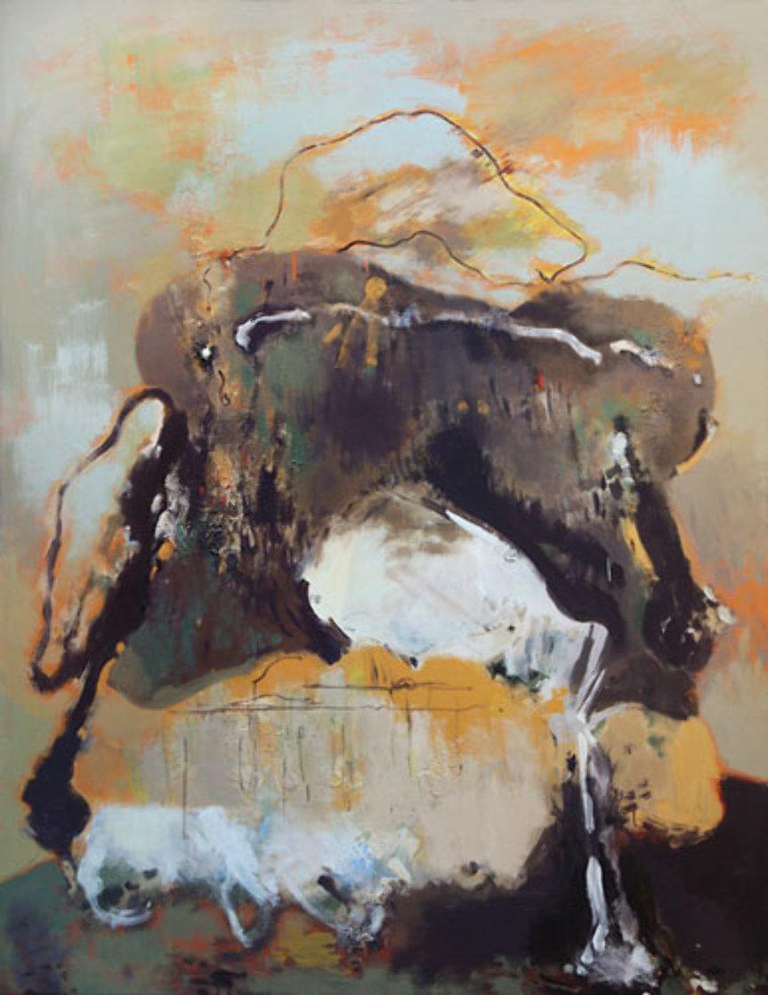 Bag With Spilled Milk 71x55 Super Huge Original Painting by Viktor Chernilevsky