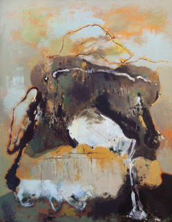 Bag With Spilled Milk 71x55 Original Painting - Viktor Chernilevsky