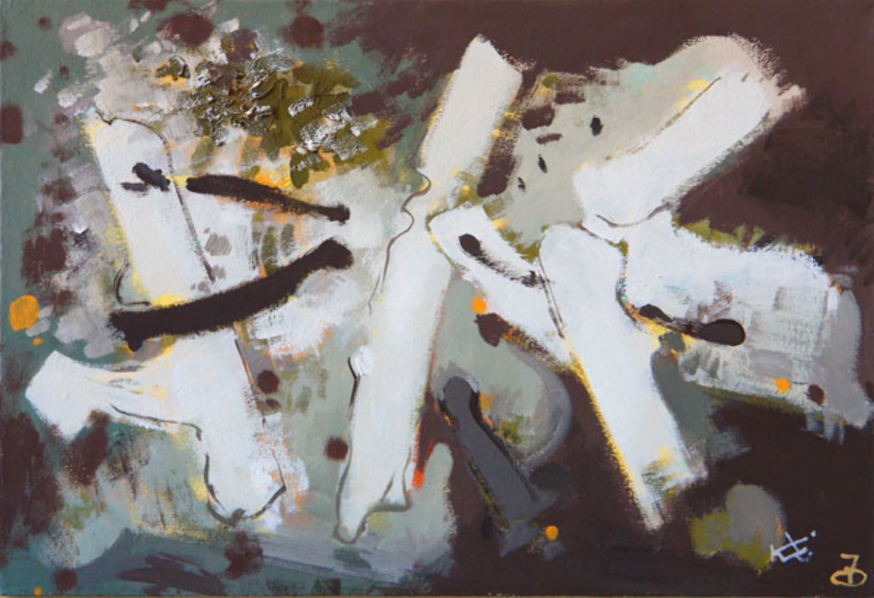 Composition T 2007 24x35 Original Painting by Viktor Chernilevsky